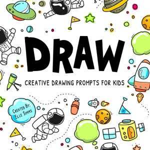 This FUN art journal contains 100 drawing prompts that will spark children's creativity and imagination.